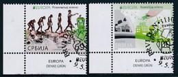 SERBIEN Mi.NR. 667-668 Europa - Umweltbewusst Leben -2016- Used - Europa-CEPT