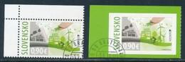 SLOWAKEI Mi.NR. 789, 790 Europa - Umweltbewusst Leben -2016- Used - Europa-CEPT