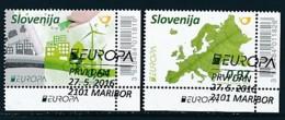 SLOWENIEN Mi.NR. 1199-1200 Europa - Umweltbewusst Leben -2016- Used - Europa-CEPT