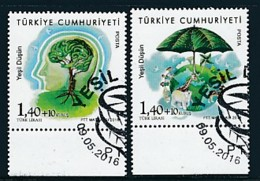 TÜRKEI Mi.NR. 4260-4261 Europa - Umweltbewusst Leben -2016- Used - 2016