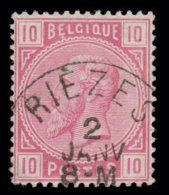 """COB N° 38 - Oblitération S.C. """"RIÈZES"""" - 1869-1883 Léopold II"""