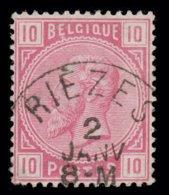 "COB N° 38 - Oblitération S.C. ""RIÈZES"" - 1869-1883 Leopold II"