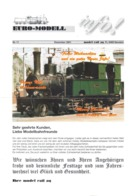 Catalogue EURO-MODELL MODEL RAIL AG Dezember 2001 Info N.11  0 0m 1:45 Brochure - German