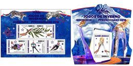 GUINEA BISSAU 2018 - Sochi To PyeongChang Olympics - YT 7427-31 + BF1389; CV=38 € - Winter 2014: Sochi