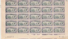 Madagascar Planche N° 71649 Coin Daté 9/1/1951 Timbres Neufs Enregistrement - ATTENTION TIMBRES COLLES Fiscaux Fiscal - Autres