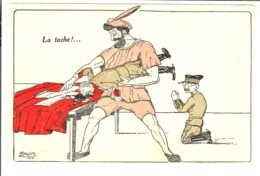 """SALVI 1916 Politique Suisse  """"La Tache"""" - Satiriques"""
