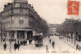 """B58062 Cpa Dijon - La Place Darcy """" Tramway """" - Dijon"""