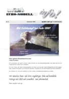 Catalogue EURO-MODELL MODEL RAIL AG Dezember 2000 Info N.9  0 0m 1:45 Brochure - German
