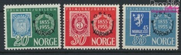 Norwegen 393-395 (kompl.Ausg.) Postfrisch 1955 Briefmarkenausstellung (9349281 - Norwegen