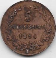 Saint Marin - 5 Centesimi 1894 - San Marino