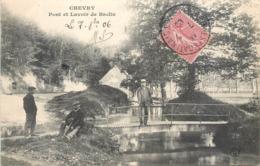 CPA 45 Loiret Chevry Sous Le Bignon Pont Et Lavoir De Baslin - France
