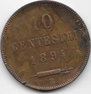 Saint Marin - 10 Centesimi 1894 - San Marino