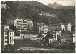 W5266 Saint Vincent (Aosta) - Alberghi Sorgente E Miramonti - Panorama / Viaggiata 1960 - Other Cities
