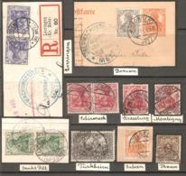 13 Timbres ( Allemagne / Divers Oblitération ) - Oblitérés