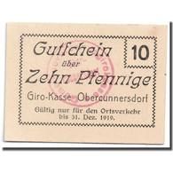 Billet, Allemagne, Obercunnersdorf, 10 Pfennig, Paysage, 1919, 1919-12-31, SPL - Allemagne