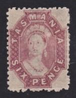 Tasmania 1871 6d Lilac MH  SG 136 - Mint Stamps