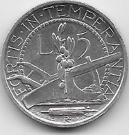 Saint Marin - 5 Lire - 1931 - Argent - San Marino