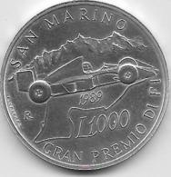 Saint Marin - 1000 Lire - 1989 - Argent - Saint-Marin