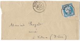TIMBRE 60/1   ; LETTRE Avec Cachet 1307 (30 D3) ;TTB - 1871-1875 Cérès