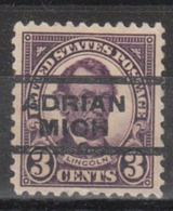 USA Precancel Vorausentwertung Preo, Locals Michigan, Adrian 555-L-3 E - United States