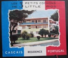 HOTEL PENSAO RESIDENCIAL PENSION POUSADA PETIT COCHONS CASCAIS DECAL STICKER LUGGAGE LABEL ETIQUETTE AUFKLEBER PORTUGAL - Etiketten Van Hotels