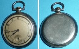 Rare Ancienne Montre à Gousset Métal, Vintage Année 50 Design 1950's - Horloge: Zakhorloge
