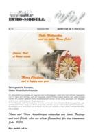 Catalogue EURO-MODELL MODEL RAIL AG Dezember 2002 Info N.13  0 0m 1:45 Brochure - German