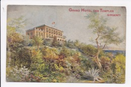 CP ITALIE Illustration Grand Hotel Des Temples Girgenti - Agrigento