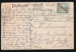 PORTUGAL   POSTCARD   10 REIS  REPUBLICA  - BLANKENESE - 1910-... République