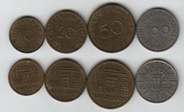SARRE  1954 10, 20, 50 Franken 1954 + 100 Franken 1955;  SARRLAND - Sarre