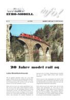 Catalogue EURO-MODELL MODEL RAIL AG Juli 2003 Info N.14 - 20 Jahre - 0 0m 1:45 Brochure - German