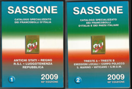 Catalogo SASSONE ITALIA 2009 - Volume 1 E 2 - USATI (prezzi Segnati), Ma In Buono Stato - Paesi Italiani - Italia