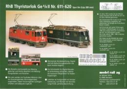 Catalogue EURO-MODELL MODEL RAIL AG 1997 3 Infoblatt  0 0m 1:45 Brochure - German