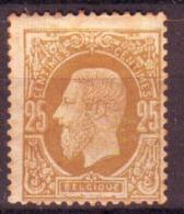 Belgique - Leopold II  - N°32 Neuf Avec Gomme, Charnière, Rousseurs - 1869-1883 Leopoldo II