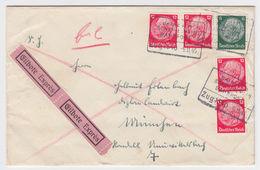 DR 1934, Bayreuth Schnabelweid Bahnpost R4 Auf Eilboten Brief M. 5 Marken.  - Allemagne