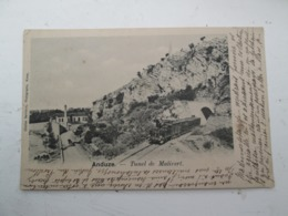 ANDUZE  Tunel De Malivert 1902 - Anduze