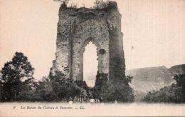 CPA   38    LES RUINES DU CHATEAU DE BEAUVOIR---1918 - Autres Communes