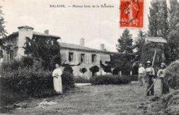CPA   38   SALAIZE---MAISON FORTE DE LA REBATIERE---ANIMEE---1914 - Autres Communes