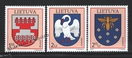 Lituanie – Lithuania – Lituania 2010 Yvert 892-94, Coat Of Arms (XIX) - MNH - Lituania