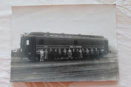 Photo Wagon Postal PLM(PARIS-LYON-MARSEILLE) Et Son Equipage (ambulants).... - Trenes