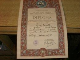 DIPLOMA REGNO D'ITALIA DI LICENZA DI SCUOLA SECONDARIA 1941 - Diploma & School Reports