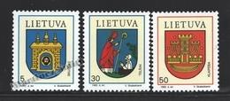 Lituanie – Lithuania – Lituania 1993 Yvert 456-58, Coat Of Arms Of The Cities (II) - MNH - Lituania