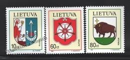 Lituanie – Lithuania – Lituania 1994 Yvert 492-94, Coat Of Arms Of The City - MNH - Lituania