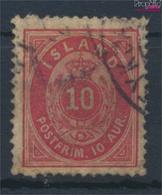 Island 8A Gestempelt 1876 Ziffer Mit Krone (9352429 - Oblitérés