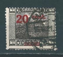 Saar MiNr. 74 Verzähnt  (r12) - Gebraucht