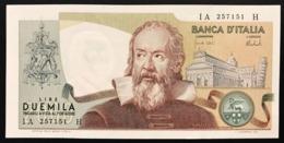 2000 LIRE Galileo Galilei 08 10 1973 CARLI BARBARITO Sup LOTTO 914 - [ 2] 1946-… : Repubblica