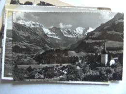 Zwitserland Schweiz Suisse BE Frutigen Kirche Mit Doldenhörner - BE Berne