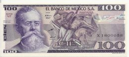 MEXIQUE 100 PESOS 1982 AUNC P 74 C - Messico