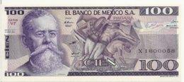 MEXIQUE 100 PESOS 1982 AUNC P 74 C - Mexico