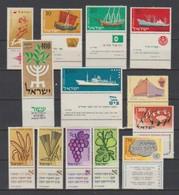 Israel  1959  N° 146 / 63  Neuf XX Avec TAB  Année Compléte =18 Valeurs - Israel